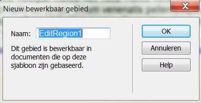 Add a editable region