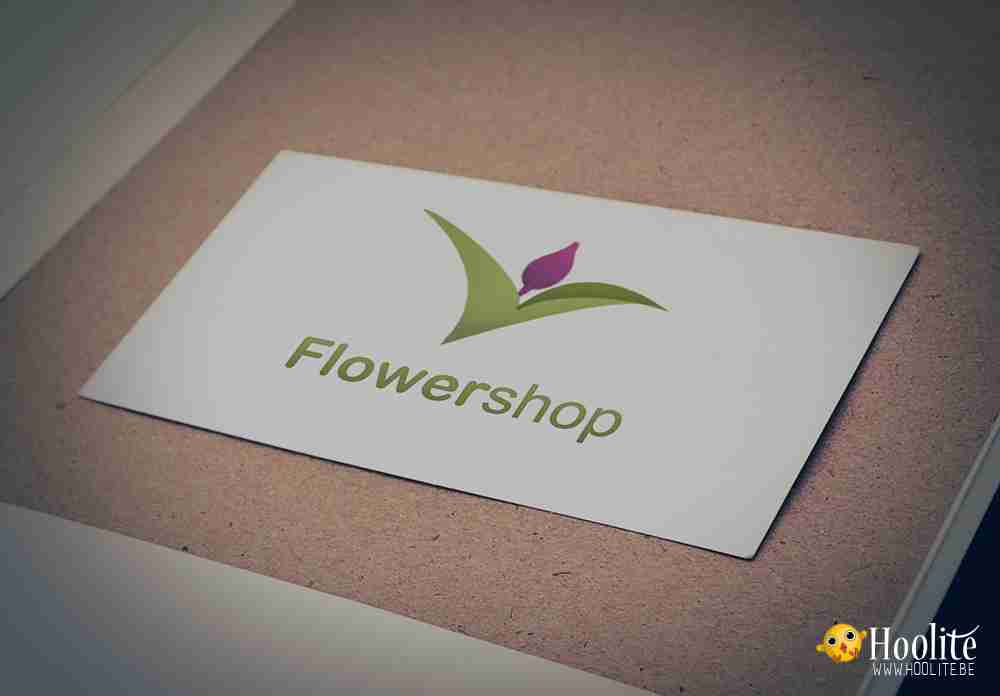 A logo for a flowershop