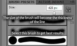 Pen tool basics: select brush tool