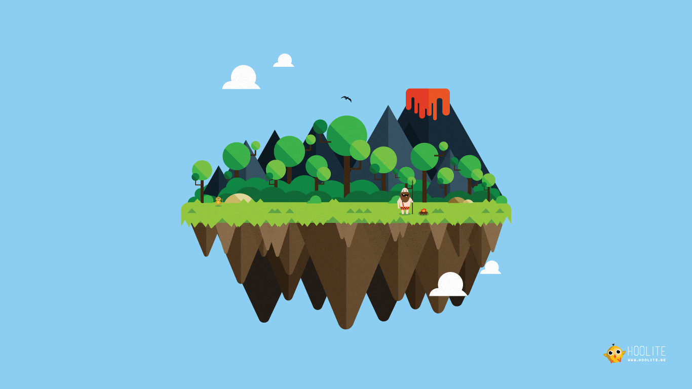 Free wallpaper Vector island: Caveman
