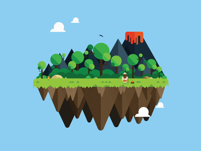 Free wallpaper vector island