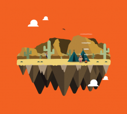 Vector island: Native American