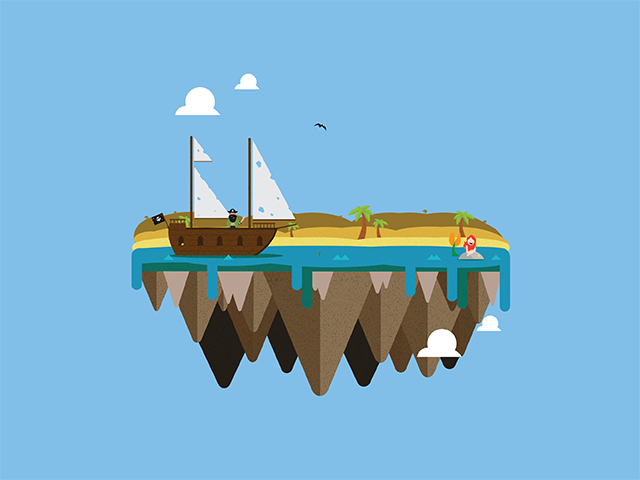 Vector island: Pirate