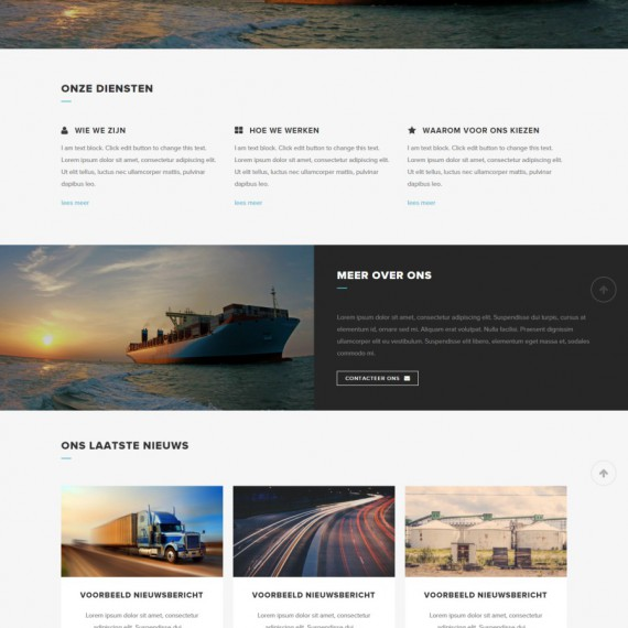 WordPress demo website: Transporticus