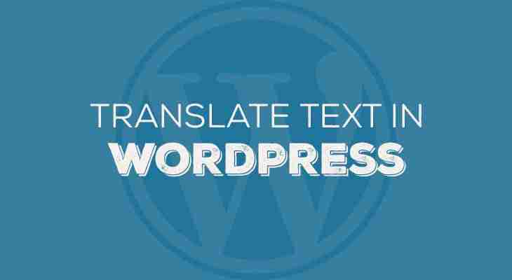 Translate or replace text in WordPress via functions.php